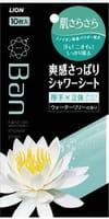 LION «Refresh Shower Sheets» Дезодорант-антиперспирант нано-ионный в форме салфеток, для всего тела, аромат цветущего лотоса, 36 шт.