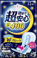 Daio paper Japan Ультразащищающие ночные женские гигиенические прокладки с крылышками, супер+4, 40 см, 12 шт.