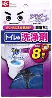 LEC Таблетка очищающая и ароматизирующая для бачка унитаза, окрашивающая воду в голубой цвет, с ароматом лаванды, 8х50 г.