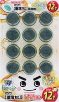 LEC Таблетка очищающая и ароматизирующая для бачка унитаза, окрашивающая воду в бирюзовый цвет, с ароматом цитрусовых, 12х50 г.