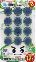 LEC Таблетка очищающая и ароматизирующая для бачка унитаза, окрашивающая воду в голубой цвет, с ароматом мяты, 12х50 г.
