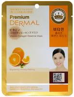 Dermal «Premium» Косметическая маска с коллагеном и витамином С «Витамин С», 25 г.