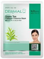 """Dermal Косметическая маска с коллагеном и экстрактом зелёного чая """"Зелёный чай"""", 23 г."""