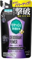 KAO «Resesh EX Plus» Суперэффективный дезодорант-нейтрализатор неприятных запахов для спортивной и рабочей одежды, с мускусным ароматом, запасной блок, 310 мл.
