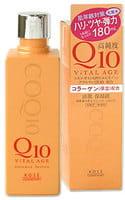 KOSE Cosmeport «Q10 Vital Age» Увлажняющий лосьон для лица с коэнзимом Q10 и морским коллагеном, 180 мл.