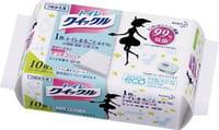 KAO «Quick Le Toilet Aroma» Дезодорирующие влажные салфетки для уборки туалета, с ароматом мяты, плотные, растворимые в воде, запасной блок, 10 шт.