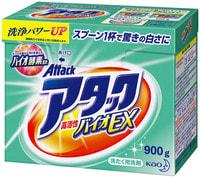 """KAO """"Био - Attack Ex"""" – стиральный порошок с высокой активностью компонентов для светлого белья, с цветочно-травяным ароматом, 900 гр."""