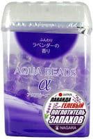 NAGARA «Aqua Beads» Арома-поглотитель запаха гелевый, с ароматом лаванды, 360 г.