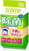 Crecia «Scotti» Влажные дезинфицирующие салфетки, без спирта, 30 шт.