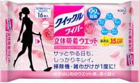 KAO «Quick Le» Влажная фибросалфетка для швабры, с дезинфицирующим эффектом, с ароматом розы, 16 шт.