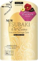 SHISEIDO «Tsubaki Oil Extra» Шампунь для повреждённых волос, с маслом камелии и аргинином, запасной блок, 330 мл.