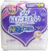 Unicharm «Sofy Super Night» Ночные ультратонкие гигиенические прокладки, 29 см, с крылышками, 15 шт.