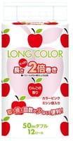 """FUJIEDA """"Fujieda Seishi"""" Туалетная бумага двухслойная, с ароматом яблок, 12 рулонов по 50 м."""