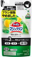 """KAO """"Magiclean Toilet"""" Моющее средство для туалета с дезодорирующим эффектом, мятно-цитрусовый аромат, 330 мл, сменная упаковка."""