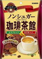 "Kanro ""Tea House"" Карамель без сахара со вкусом кофе, мягкая упаковка, 72 гр."