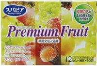 """Fudo Kagaku """"Premium Fruits"""" Соль для ванны на основе углекислого газа с тонизирующим эффектом и ароматом сочных фруктов, 12 таблеток по 40 гр."""