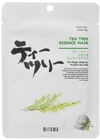 Mitomo «Uruuru» Противовоспалительная тканевая маска с маслом чайного дерева, 1 шт.
