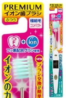 Hukuba Dental Ионная зубная щётка с фтором супер-компактная, средней жёсткости, ручка + 1 головка.