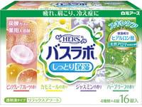 HAKUGEN «Hers Bath Labo» Увлажняющая соль для ванны с восстанавливающим эффектом на основе углекислого газа, с гиалуроновой кислотой, с ароматами жасмина, ромашки, летнего луга, розового грейпфрута, 16 таблеток по 45 г.