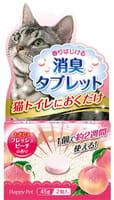 EARTH BIOCHEMICAL Дезодорирующие таблетки для кошачьего туалета, с ароматом персика, 2 шт. по 45 г.