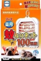 EARTH BIOCHEMICAL Подвесное средство для отпугивания комаров от кошек и собак, действует 100 дней.
