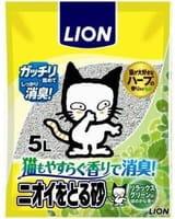 LION Наполнитель бентонитовый для кошачьего туалета, с ароматом зелени, 5 л.