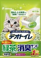 Unicharm Наполнитель бумажный для биотуалета, с ароматом зелёного чая, 2 л.