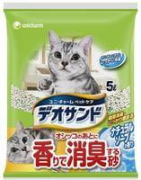 Unicharm Наполнитель для кошачьего туалета бентонитовый, дезодорирующий, с ароматом мыла, 5 л.