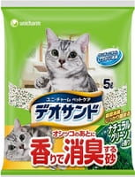 Unicharm Наполнитель для кошачьего туалета бентонитовый, дезодорирующий, с ароматом трав, 5 л.