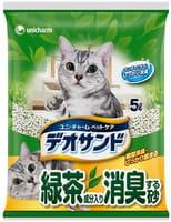 Unicharm Наполнитель для кошачьего туалета бентонитовый, дезодорирующий, с экстрактом зелёного чая, 5 л.
