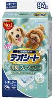 Unicharm Подстилки (пелёнки) для собак, 44х32 см, дезодорирующие, с ароматом зелени, 84 шт.