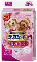 Unicharm Подстилки (пелёнки) для собак, 44х60 см, дезодорирующие, с цветочным ароматом, 42 шт.