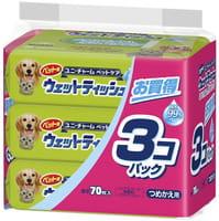 Unicharm Салфетки влажные для домашних животных, 3х70 шт.