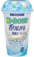 Unicharm Дезодорирующие шарики для кошачьего туалета, мягкий мыльный запах, 450 мл.