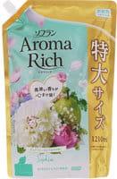"""LION """"Soflan Aroma Rich Sofia"""" Кондиционер для белья с богатым ароматом натуральных масел, сменная упаковка, 1210 мл."""