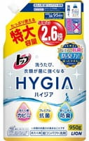 LION «Тop Hygia» Жидкое антибактериальное концентрированное средство для стирки белья, с ароматом зелёного чая, запасной блок, 950 г.