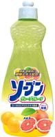 KANEYO Средство для мытья посуды, овощей и фруктов, с экстрактом алоэ и эвкалипта, с ароматом грейпфрута, 600 мл.