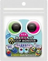 «Clip Monster» Детские клипсы для защиты от насекомых «Яркие глаза», 2 шт.