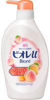 """KAO """"Biore U"""" Мягкое пенное мыло для всей семьи, аромат сладкого персика, 480 мл."""