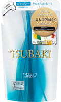 SHISEIDO «Tsubaki» Разглаживающий шампунь для волос, с маслом семян камелии и маточным молочком, запасной блок, 330 мл.