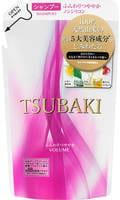 SHISEIDO «Tsubaki» Шампунь для придания объёма волосам, с маслом семян камелии и маточным молочком, запасной блок, 330 мл.
