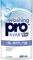 CJ LION «Washing Pro» Средство для мытья посуды, мягкая упаковка, 800 мл.