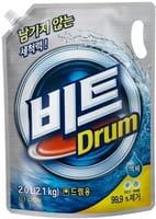 CJ LION «Beat Drum» Жидкое средство для автоматической стирки, мягкая упаковка, 2 л.