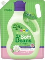 """CJ Lion """"Soft Beans"""" Кондиционер для белья на основе экстракта зелёного гороха, мягкая упаковка, 2 л."""