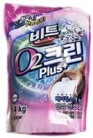 """CJ Lion """"Clean Plus"""" Кислородный отбеливатель, мягкая упаковка, 1,4 кг."""