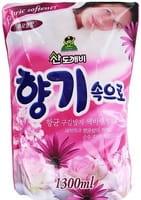 """Sandokkaebi """"Soft Aroma"""" Кондиционер для белья """"Цветочный"""", запасной блок, 1300 мл."""