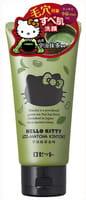 ROSETTE «Hello Kitty» Пенка-пиллинг для глубокого очищения пор с чаем матча и соевыми бобами, туба 120 гр.