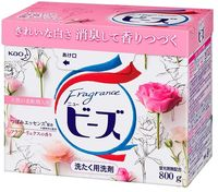 KAO «New Beads Fragrance» Стиральный порошок со смягчителем, с ароматом ландыша и розы, для белого и цветного белья, 800 гр.