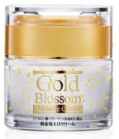 SQUEEZE «Gold Blossom» Увлажняющий крем для лица с золотом, гиалуроновой кислотой и коллагеном, 50 г.
