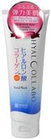 """Meishoku """"Hyalcollabo Facial Wash"""" Глубокоувлажняющая пенка для умывания (с наноколлагеном и наногиалуроновой кислотой), 100 г."""